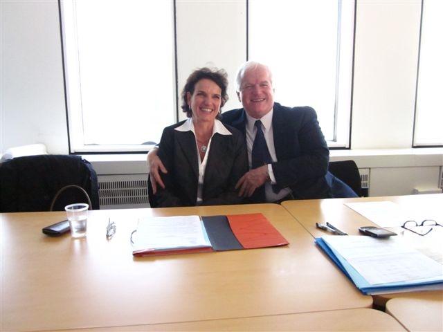 J.C. Volot und m.con-Mediatorein Karen Altland